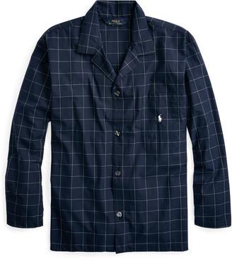 Ralph Lauren Windowpane Cotton Pajama Shirt