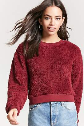 Forever 21 Fuzzy Faux Shearling Sweater