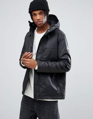 Element Freeman Wax Waterproof Jacket in Black