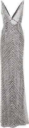 Naeem Khan Sequin V Neck Gown $7,495 thestylecure.com