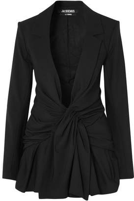 Jacquemus Rafeal Knotted Canvas Blazer - Black