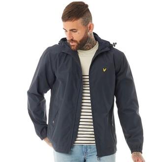 Vintage Mens Zip Through Hooded Jacket Navy Jacket