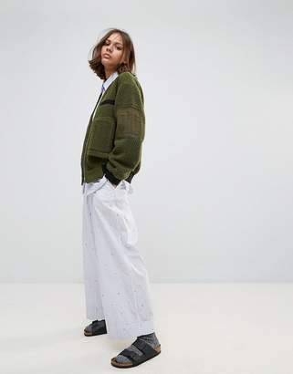 Wood Wood Marion Cropped Wide Leg Trousers