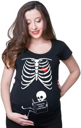 Silk Road Tees X-ray Skeleton baby maternity shirt
