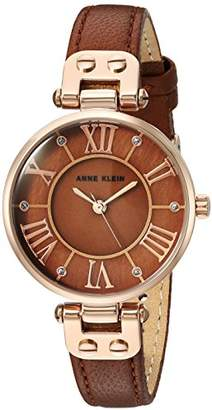 Anne Klein Women's Quartz Metal and Leather Dress Watch