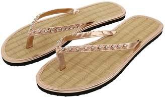 e0d44dece72521 Next Womens Accessorize Metallic Bead Seagrass Flip Flop