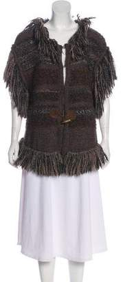 Just Cavalli Fringe Trimmed Cardigan
