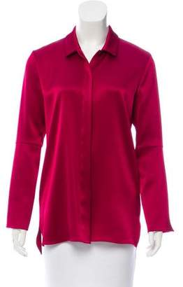 Halston Satin Button-Up Top w/ Tags