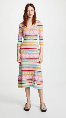 Moschino Patterned Midi Dress