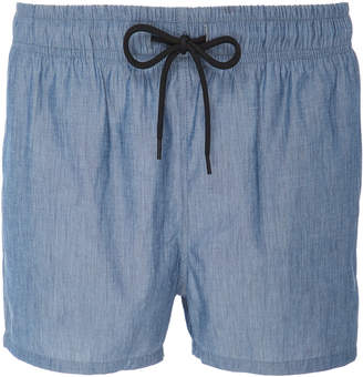 Solid & Striped Cotton-Chambray Swim Shorts