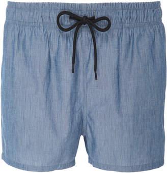 Solid & Striped Cotton-Chambray Swim Shorts