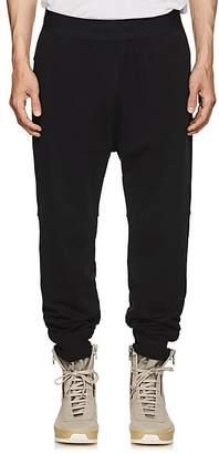 Helmut Lang Men's Logo-Waistband Cotton Terry Jogger Pants