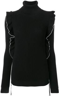 No.21 ラッフル装飾 タートルネックセーター