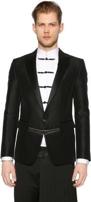 London Wool Silk Gabardine Tuxedo Jacket $2,645 thestylecure.com