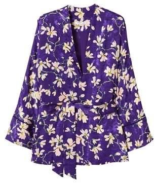 MANGO Floral print kimono