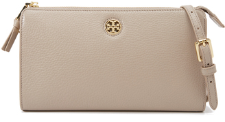 Tory Burch Robinson Pebbled Cross Body Wallet $225 thestylecure.com