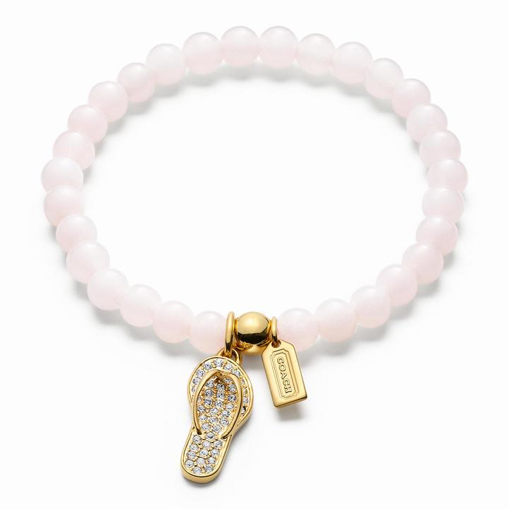 Coach Pave Flip Flop Mini Bead Bracelet