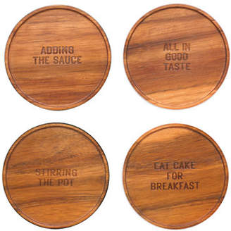 Kate Spade Set of Four Wood Coasters