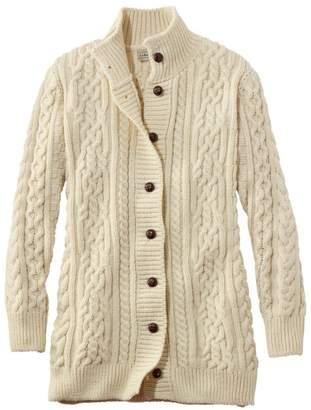 L.L. Bean L.L.Bean Women's 1912 Heritage Irish Fisherman Sweater, Long Cardigan