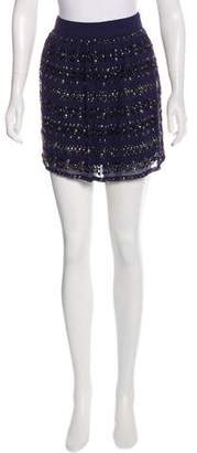 Gryphon Embellished Mini Skirt w/ Tags