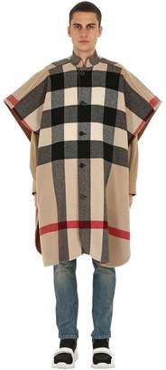 Burberry Reversible Wool Blend Double Cape