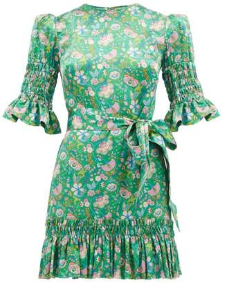 The Vampire's Wife The Whole Lotta Trouble Mabel Silk Dress - Womens - Green Multi