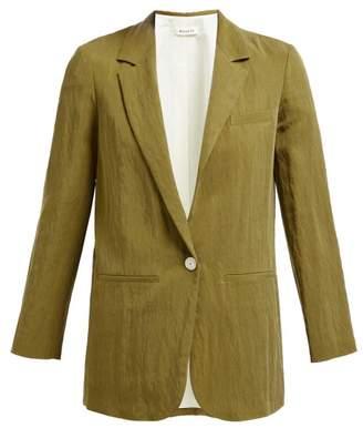 Masscob Single Breasted Twill Blazer - Womens - Khaki