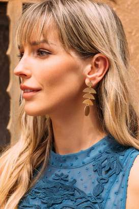 francesca's Cate Crescent Circle Drop Earrings - Gold