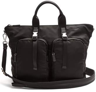 Prada - Double Pocket Nylon Holdall - Mens - Black