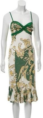 Just Cavalli Abstract Print Sleeveless Dress Green Abstract Print Sleeveless Dress