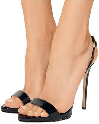 FSJ Women Sexy High Heel Stiletto Sandals Ankle Strap Slingback Open Toe Evening Shoes Size 9