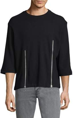 Chapter Men's Liam Zip Crewneck Tee