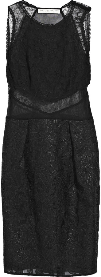 Stella McCartney Guipure-lace shift dress