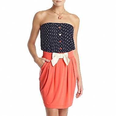 Mng by Mango® Strapless Printed 2-Piece Dress