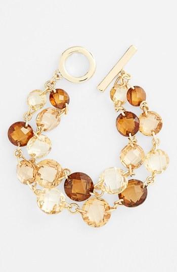 Anne Klein 2-Row Line Bracelet