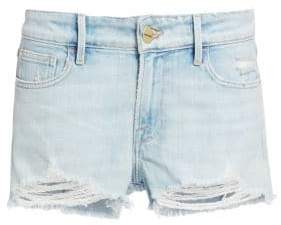 Frame Women's Le Grand Garcon Distressed Jean Shorts - Hurrah - Size 24 (0)