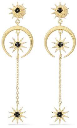 Noir Gold-Tone Crystal Earrings