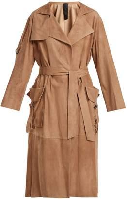 GIANI FIRENZE Patch-pocket suede coat