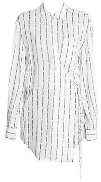 Off-White Women's Logo Print Tie Shirt