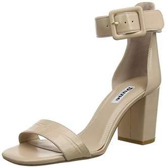 Dune Women's Mirror Ankle Strap Sandals, Beige Nude, 5 (38 EU)
