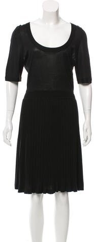 Balenciaga  Balenciaga Silk Pleated Dress