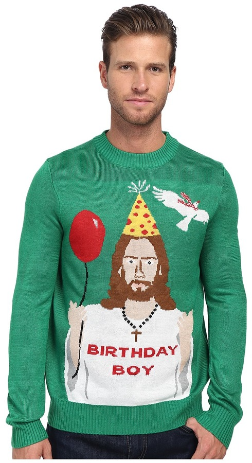 tipsy elves Happy Birthday Jesus Ugly Christmas Sweater