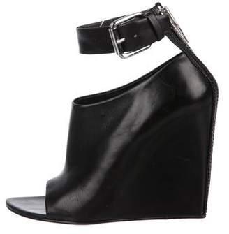 Alexander Wang Leather Peep-Toe Booties