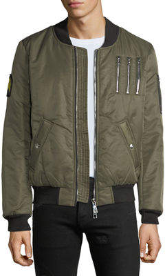 The New Designers Men's Nylon Flight Jacket