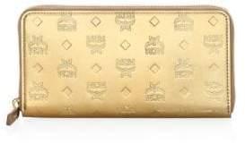 MCM Large Patricia Patent Zip Wallet