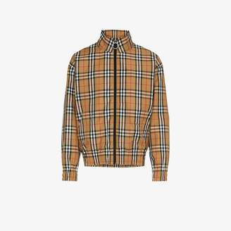 Burberry house check-print jacket