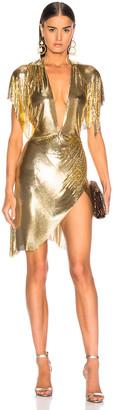 Fannie Schiavoni Jennifer Dress in Gold | FWRD