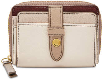 Fossil Fiona Suede & Leather Zip Coin Wallet