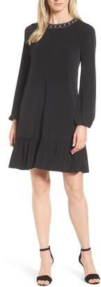 MICHAEL Michael Kors Studded Neck A-Line Dress