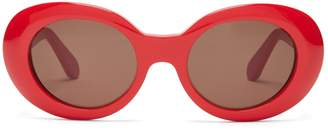Acne Studios Mustang oval acetate sunglasses